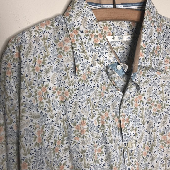 Nordstrom Other - Floral mens dress shirt Burma Bibas XL French cuff